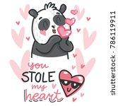 cute teddy bear character in... | Shutterstock .eps vector #786119911