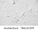 Old White Paint Wall With Crac...