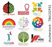 creative logo set. brand... | Shutterstock .eps vector #786132931