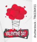 happy valentines day. text... | Shutterstock .eps vector #786136411