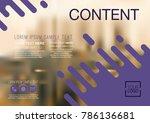 presentation layout design... | Shutterstock .eps vector #786136681