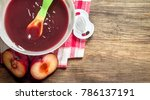 baby food. baby puree from... | Shutterstock . vector #786137191