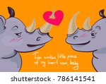 vector valentine card cute... | Shutterstock .eps vector #786141541