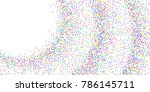 colored confetti points are... | Shutterstock .eps vector #786145711