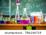 experiments in chemistry...   Shutterstock . vector #786146719