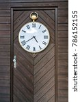 vintage door clock | Shutterstock . vector #786152155