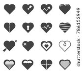 heart icon on gray color   ...   Shutterstock .eps vector #786153949