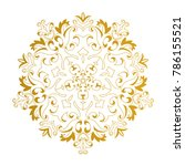 vector gold beautiful mandala.... | Shutterstock .eps vector #786155521