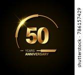 50 years anniversary... | Shutterstock .eps vector #786157429