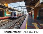 public metro departing from... | Shutterstock . vector #786163147