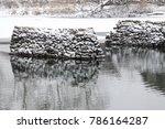 rock pylons in a river | Shutterstock . vector #786164287