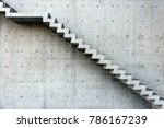 concrete staircase with...   Shutterstock . vector #786167239