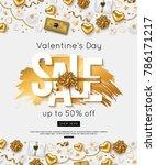 valentines day sale online... | Shutterstock .eps vector #786171217