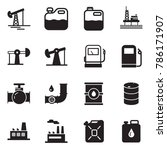 solid black vector icon set  ... | Shutterstock .eps vector #786171907