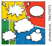 comic speech bubbles. comic... | Shutterstock .eps vector #786174571