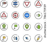 line vector icon set   side... | Shutterstock .eps vector #786175939