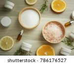 natural cosmetic skincare serum ... | Shutterstock . vector #786176527