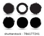 set of grunge circles.vector...   Shutterstock .eps vector #786177241