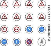 line vector icon set   turn... | Shutterstock .eps vector #786177865