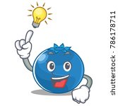 have an idea blueberry... | Shutterstock .eps vector #786178711