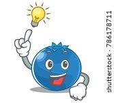 have an idea blueberry... | Shutterstock .eps vector #786178711