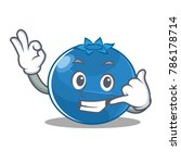 call me blueberry character... | Shutterstock .eps vector #786178714