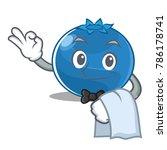 waiter blueberry character... | Shutterstock .eps vector #786178741