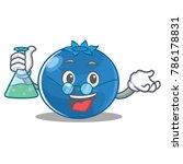 professor blueberry character... | Shutterstock .eps vector #786178831