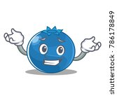 grinning blueberry character... | Shutterstock .eps vector #786178849
