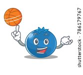 with basketball blueberry...   Shutterstock .eps vector #786179767