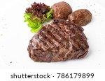 grilled fillet steak. ribeye... | Shutterstock . vector #786179899