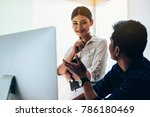 business meeting concept  the... | Shutterstock . vector #786180469