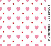 heart and polka seamless... | Shutterstock . vector #786184075