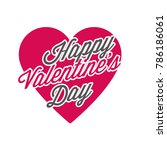 valentine's day label vector | Shutterstock .eps vector #786186061