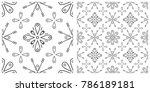 seamless pattern in flat design ... | Shutterstock .eps vector #786189181