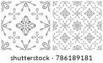 seamless pattern in flat design ...   Shutterstock .eps vector #786189181