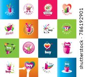 vector shopping logo | Shutterstock .eps vector #786192901