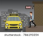 drunken man are taking a taxi... | Shutterstock .eps vector #786193354
