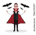 fearful count dracula vampire... | Shutterstock .eps vector #786193357