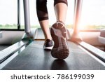 close up sneakers fitness girl...   Shutterstock . vector #786199039