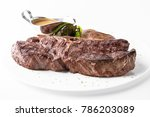 medium rare grilled t bone... | Shutterstock . vector #786203089