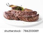 medium rare grilled t bone... | Shutterstock . vector #786203089