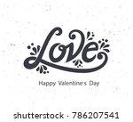 happy valentines day typography ... | Shutterstock .eps vector #786207541
