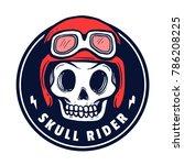 skull helmet  vector... | Shutterstock .eps vector #786208225
