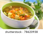 fresh vegetable soup made of...   Shutterstock . vector #78620938