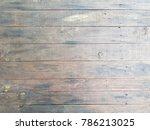 dark vintage wooden plank... | Shutterstock . vector #786213025