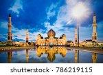 mosque an nuur  the great...   Shutterstock . vector #786219115