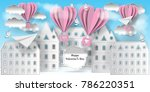 valentine's day illustration....   Shutterstock .eps vector #786220351