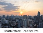 the sunset of bangkok  thailand ... | Shutterstock . vector #786221791