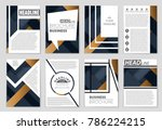 abstract vector layout... | Shutterstock .eps vector #786224215